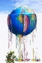 Colorful World Melting - Graffiti Street Art, Djerba Island, Tunisia Royalty Free Stock Photo