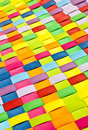 Colorful woven background a closeup of colourful plastic strips Stock Image