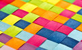 Colorful woven background a closeup of colourful plastic strips Stock Photos