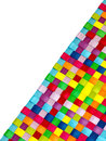 Colorful woven background a closeup of colourful plastic strips Royalty Free Stock Images
