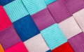 Colorful woven background a closeup of colourful plastic strips Royalty Free Stock Image