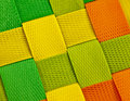 Colorful woven background a closeup of colourful plastic strips Royalty Free Stock Photography