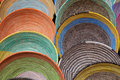 Colorful Woven Baskets Stock Image