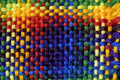 Colorful Woven Yarn Royalty Free Stock Photography