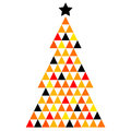 Colorful xmas mosaic tree abstract made from triangles vector illustration Royalty Free Stock Images