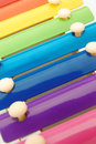 Colorful xylophone close up look of Stock Photo
