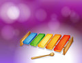 A colorful xylophone illustration of Royalty Free Stock Photography