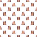 Colorful xylophone pattern seamless