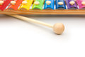 Colorful xylophone on white with copy space Royalty Free Stock Photography