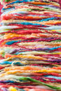 Colorful yarn texture closeup abstract of yarns Royalty Free Stock Photo