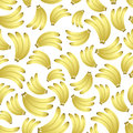 Colorful yellow bananas fruits seamless pattern eps10