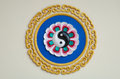 Colorful yin yang sign in the chinese temple Royalty Free Stock Image
