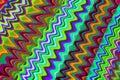 Colorful zig zag background Royalty Free Stock Photo