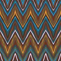Colorful zig-zag pattern, seamless vector Royalty Free Stock Images