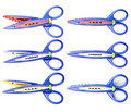 Colorful zigzag scissors Royalty Free Stock Photography