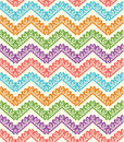 Colorful zigzag seamless pattern. Chevron background. Vector illustration Royalty Free Stock Photo