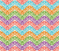 Colorful zigzag seamless pattern. Chevron vector background Royalty Free Stock Photo
