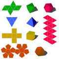 Colorfull 3d vector geometric shapes Royalty Free Stock Images