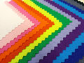 Colorfull cotton fabric stack of Stock Images