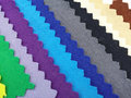 Colorfull cotton fabric stack of in blue shade Stock Photo