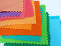 Colorfull cotton fabric stack of in sweet tone Stock Image