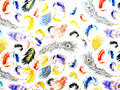 Colorfull feathers Stock Photos