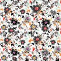 Colorfull floral pattern background vector Stock Image