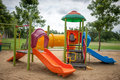 Colorfull playground in park Royalty Free Stock Photography
