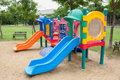 Colorfull playground in park Royalty Free Stock Photo