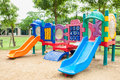 Colorfull playground in park Royalty Free Stock Images