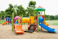 Colorfull playground in park Stock Image