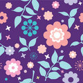 Colorfull seamless floral pattern Royalty Free Stock Image