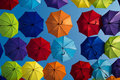 Colorfull umbrellas Royalty Free Stock Photo