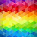 Colorfull vintage abstract geometric pattern trendy colorful triangle seamless background Royalty Free Stock Photography