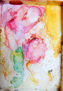 Colorfull watercolor palette art wallpaper Royalty Free Stock Photo