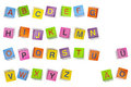 Colorfully abc cubes Royalty Free Stock Photo