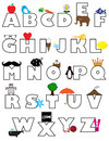 Coloring book alphabet childrens activity proportioned for letter size print Royalty Free Stock Image