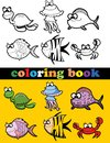 Coloring book of animals illustration picture Stock Photo