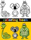 Coloring book of animals illustration picture Stock Photography