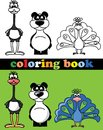 Coloring book of animals illustration picture Royalty Free Stock Photo