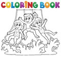 Coloring book aquapark theme eps vector illustration Stock Photo