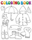 Coloring book autumn objects set 1