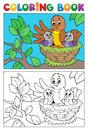 Coloring book bird image 5 Stock Photography