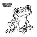 Coloring book, Blue poison dart frog