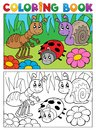 Coloring book bugs theme image 5 Royalty Free Stock Images