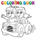 Coloring book car theme eps vector illustration Royalty Free Stock Photos