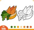 Coloring book, Carrots in a basket
