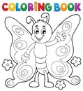 Coloring book cheerful butterfly theme 1