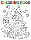 Coloring book Christmas penguin topic 6