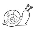 Coloring book, coloring page (snail) Royalty Free Stock Photo